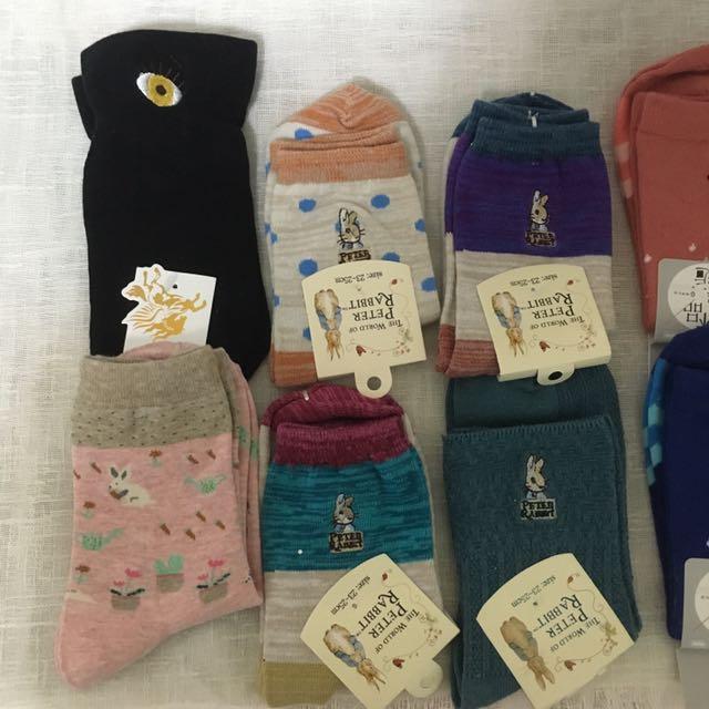 可愛韓版日式襪子出清 全新 降