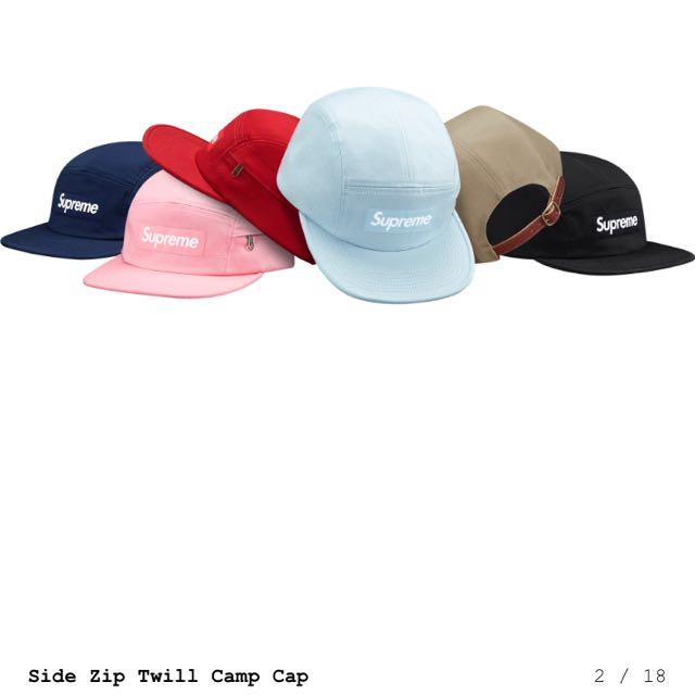 徵 收 supreme camp cap pink