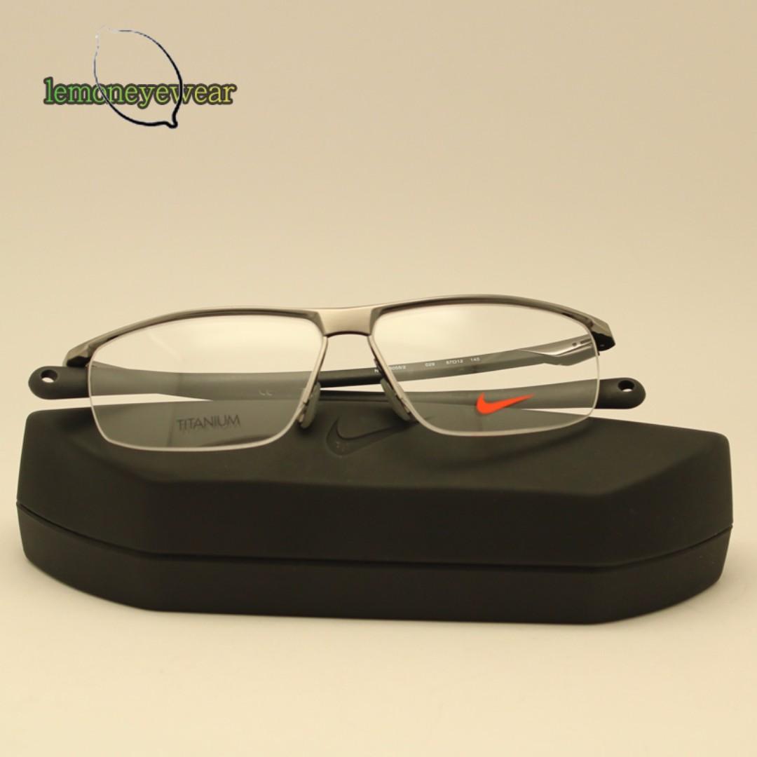 Cromático nuez trabajo  檸檬眼鏡] NIKE 6055 光學眼鏡世界級運動品牌強調舒適流線設計超值優惠, 名牌精品, 精品配件在旋轉拍賣