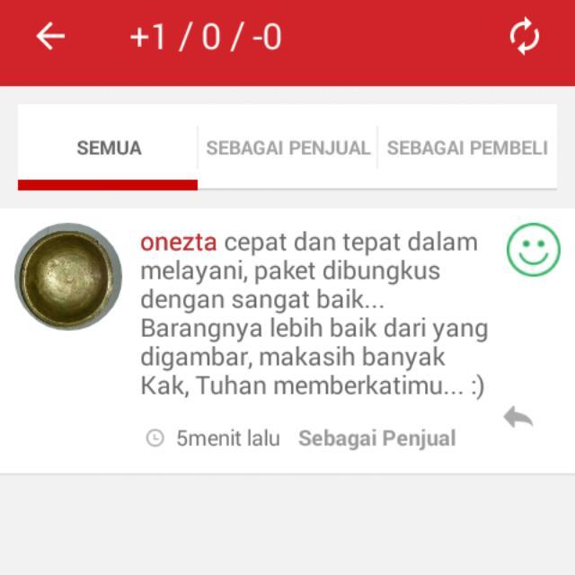Alhamdulillah Positif Feedback Makasi Jg Yaa Sis Onezta..ditunggu repeat Ordernya.. :)