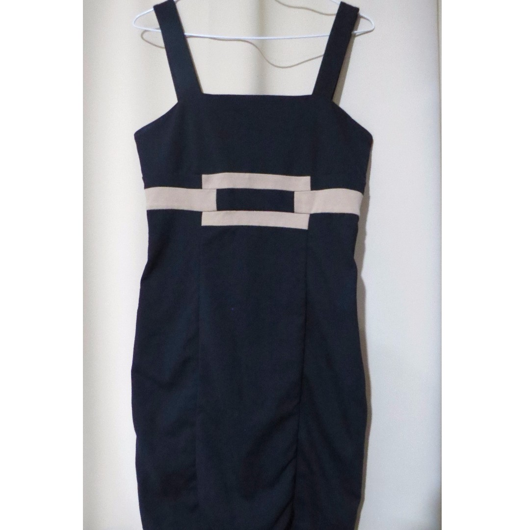 Authentic Banana Republic designer plain black strappy sleeveless dress (#68)