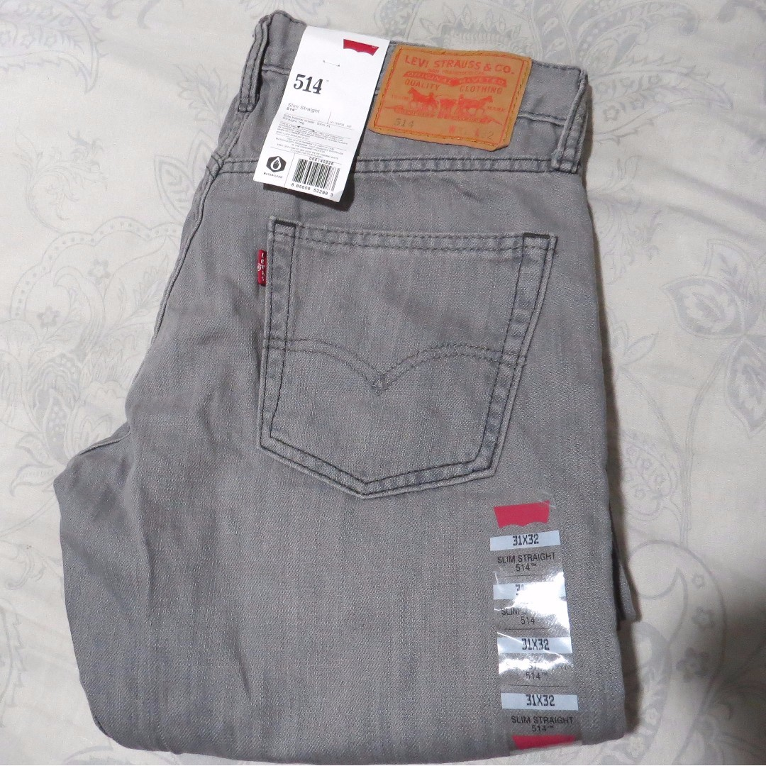 Authentic Brand new Levi's Slim Straight gray jeans pants