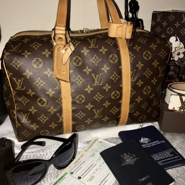 Authentic Louis Vuitton Sac Soupple 35 Monogram