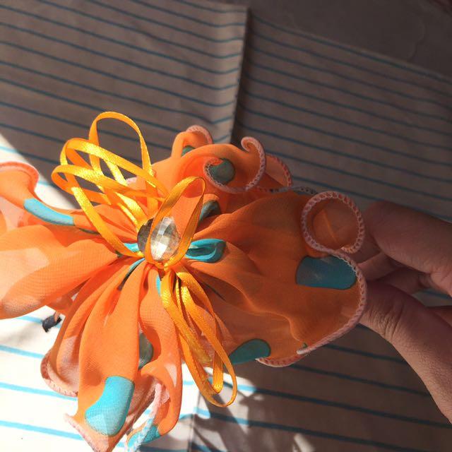 Bando Orange Polkadot