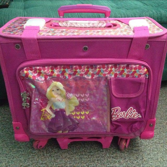 Barbie 6 Wheels Trolley Bag