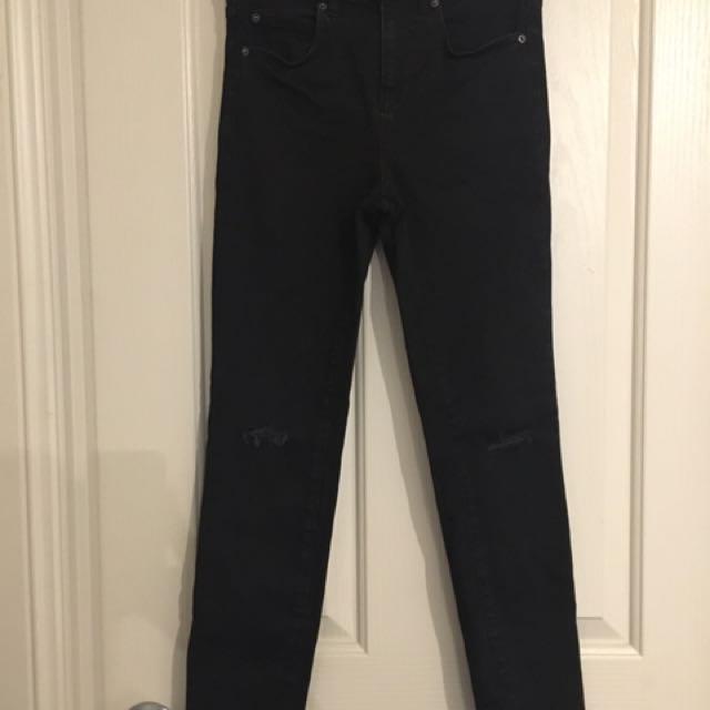 Bardot Black Ripped Jeans