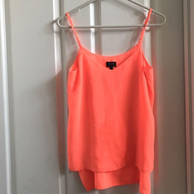 Bardot bright orange camisole size 6