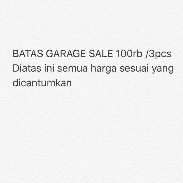 Batas Garage Sale