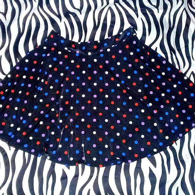 Black Colorful Polka Dots