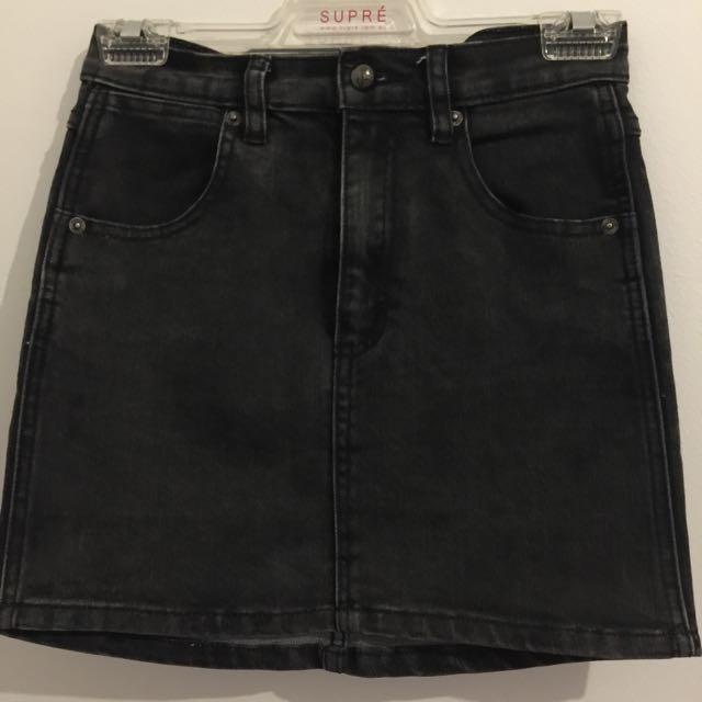 Black Denim Skirt Size XS