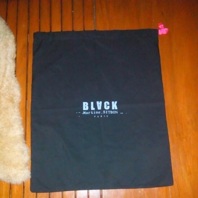 Black Martine Sitbon Paris String Dust Bag