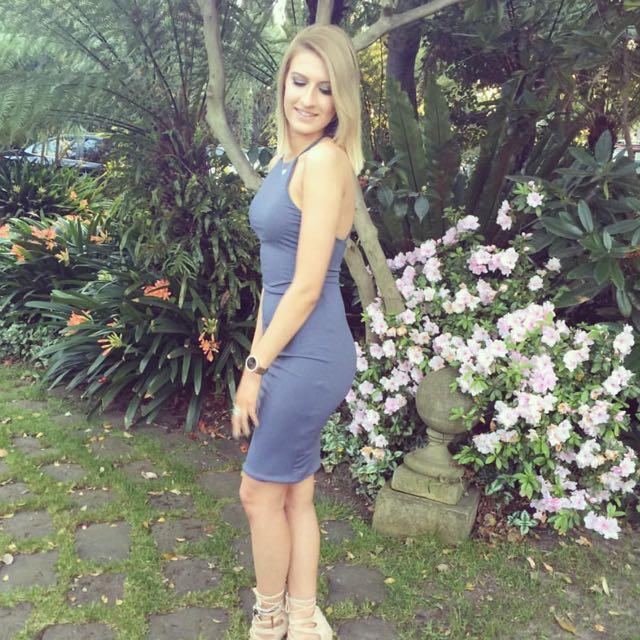 Blue Midi Dress Size 8