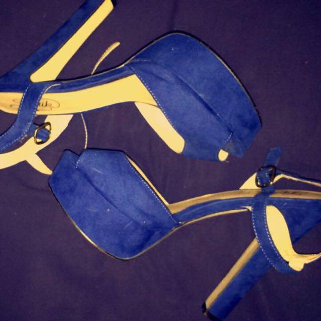 Blue Size 9 Heels