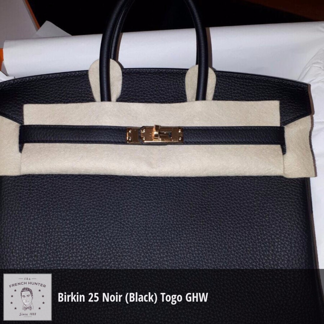 467e3a59cad9 where to buy bnib hermès birkin 25 noir black togo gold hardware ghw a stamp  2017