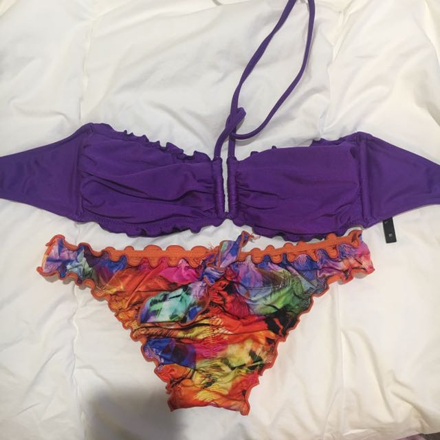 Brand New Seafolly Bandeau Top And Bottoms