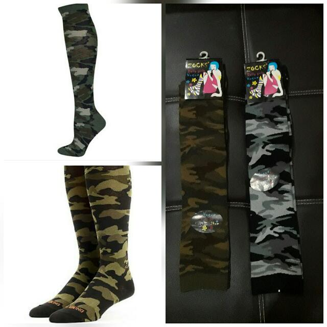 Camoufladge Knee High Socks(unisex)