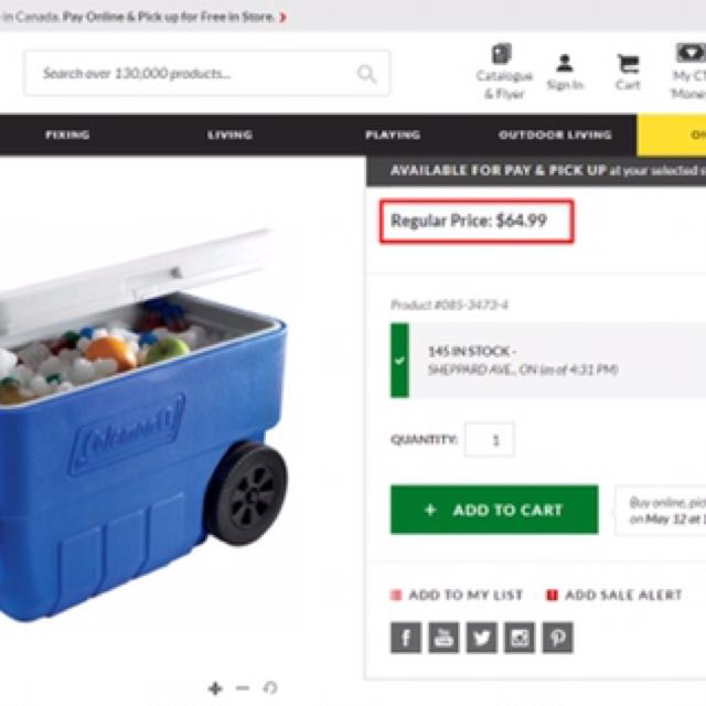 Coleman Cooler On Wheels for Sale