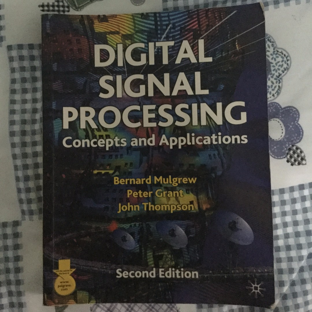 Digital Signal Processing: Concepts and Applications, Books