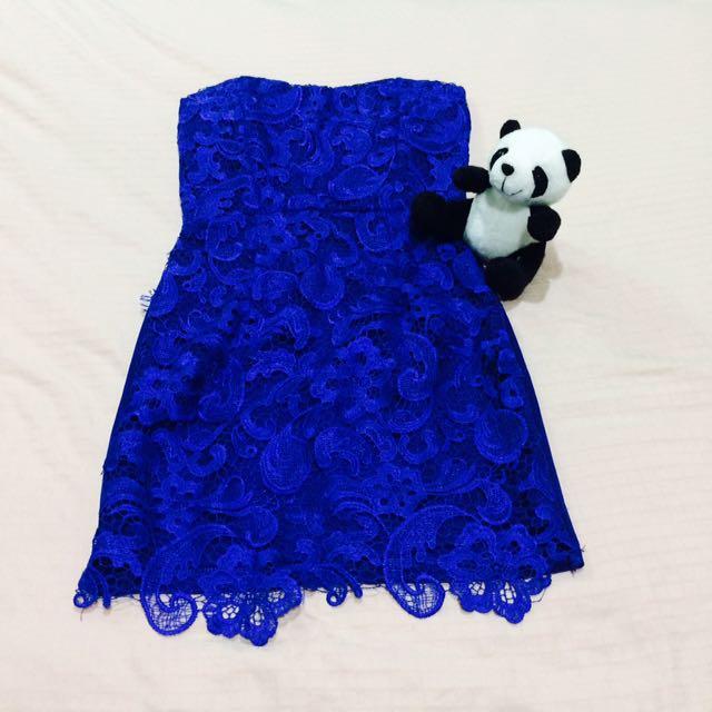 Dress Biru Lace