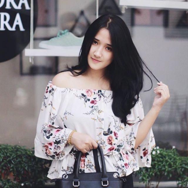 Floral Shoulder Off - Sabrina