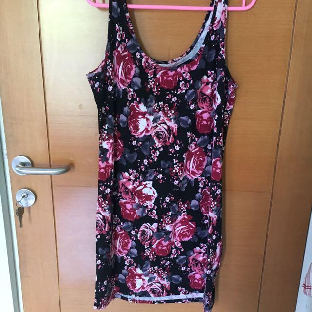 Floral Tank Top Dress