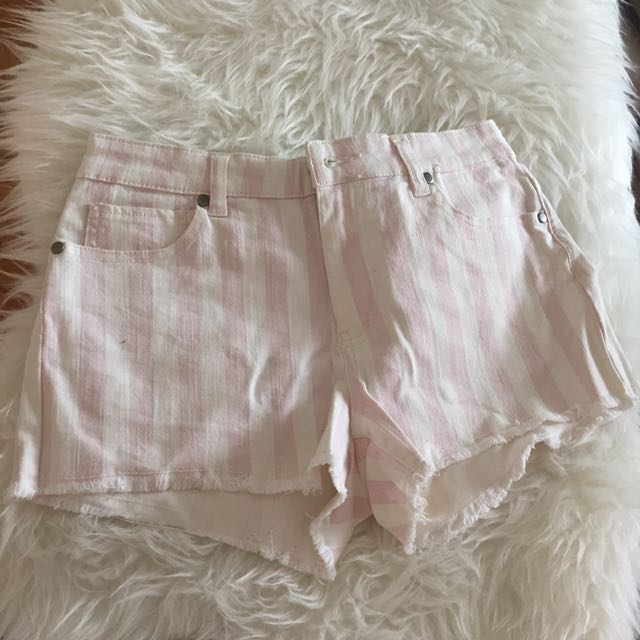 Forever 21 Pink Striped Shorts