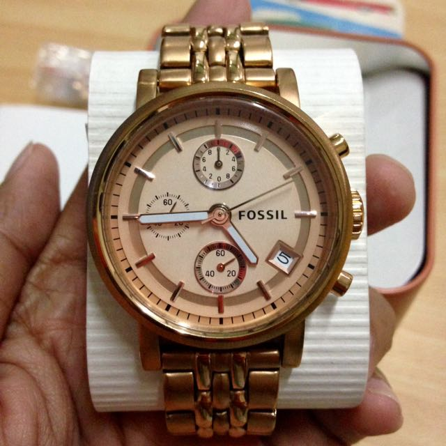 Fossil Boyfriend Rose Gold (ORI)
