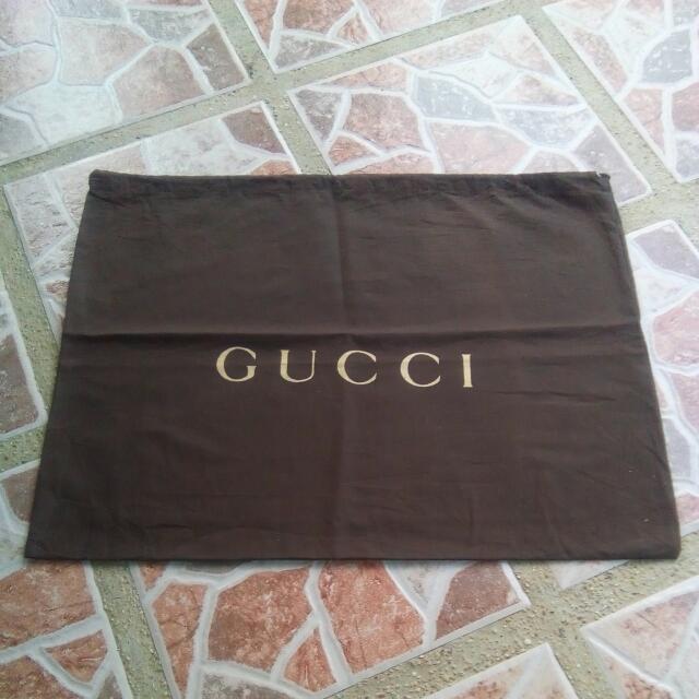 GUCCI Cotton Drawstring Dust Bag