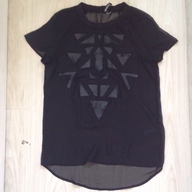 H&M Mesh Black Top