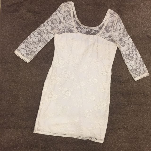 H&M White Floral Dress