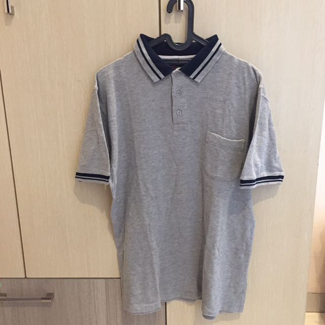 HOMME Polo Shirt Grey