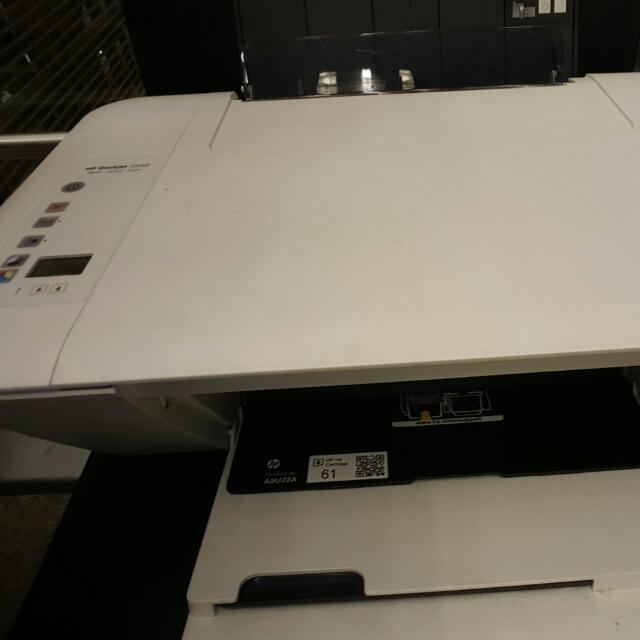HP Computer, HP Deskjet 2540 And Keyboard