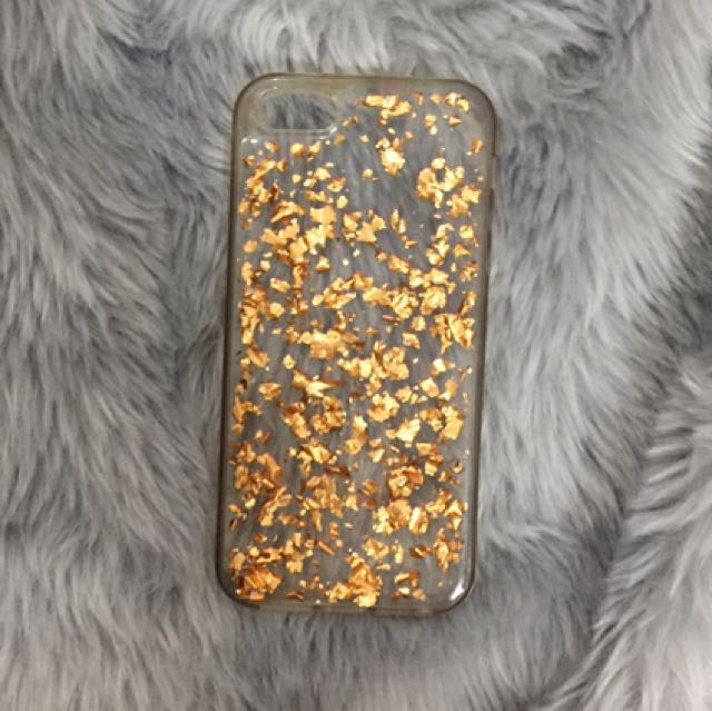 iPhone 5/5s Case With Gold Metallic Flakes