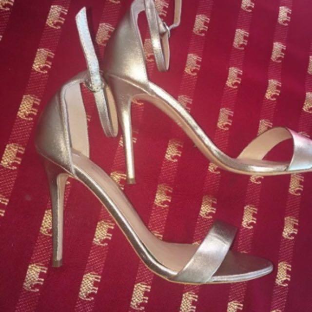 Karvan Rose Gold Mat Metallic Heels