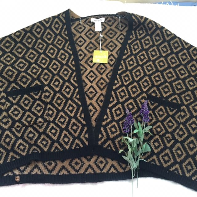 Knitted Acrylic Winter Cardigan / Shawl