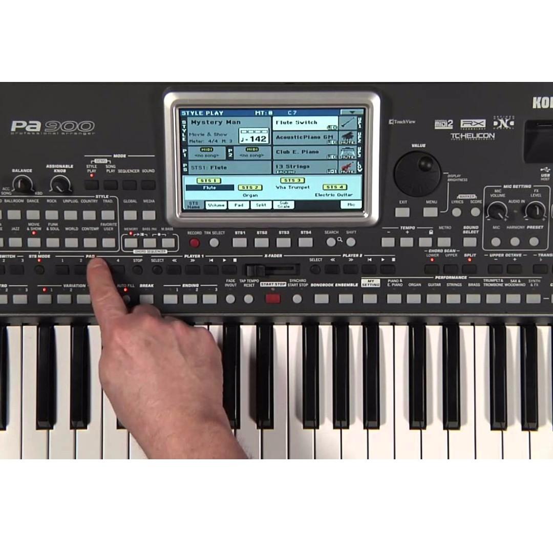 Korg PA900 Professional Arranger Keyboard, Music & Media