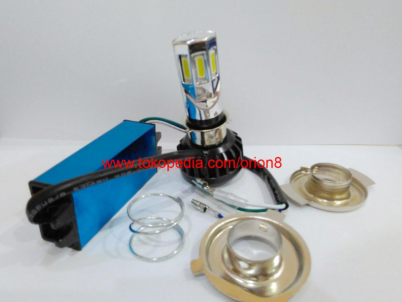 Lampu Utama Led 6 Sisi Ac Dc Nyala Kuning Semua Motor Daftar Harga Rtd Atau Headlamp A0400 Headlight Super Untuk
