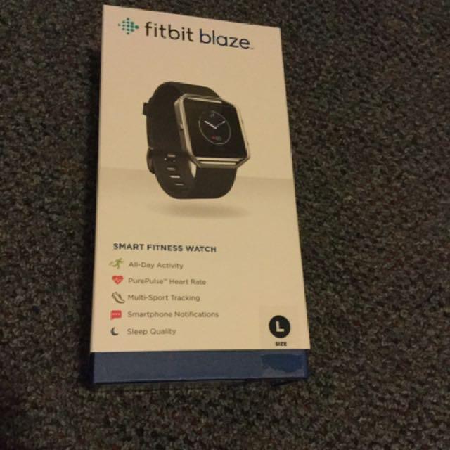 Large Fitbit Blaze (blue)