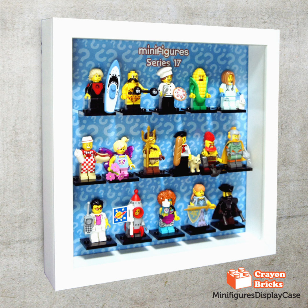LEGO 71018 CMF Series 17 Minifigures Display Solution for IKEA Ribba ...