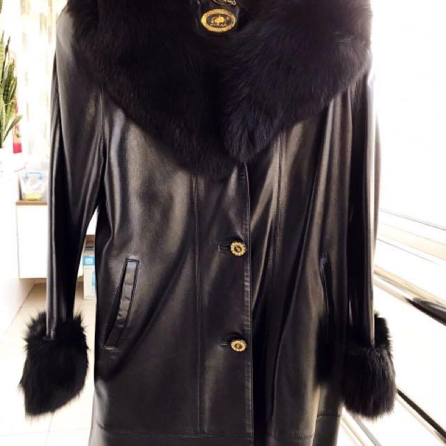 Luxury Fox Fur Sheepskin Women Warm Winter Coat