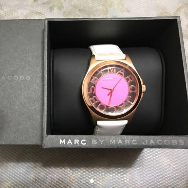 MARC 正品 透視錶玫瑰金