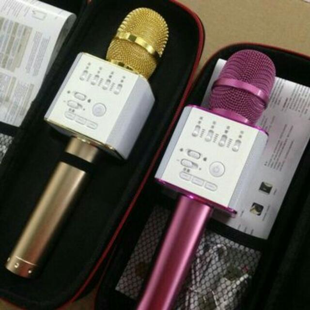 Mic Karaoke KTV Q9 Bluetooth Wireless Microphone with Speaker Karaoke, Electronics, Audio on Carousell