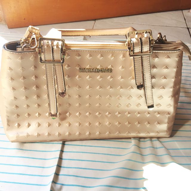 Michael Kors Bag Gold Studed