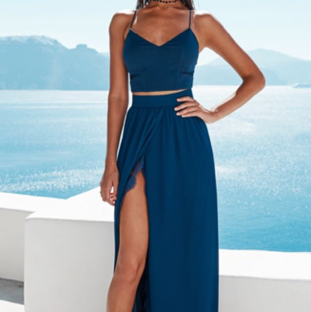 Miss Holly Ryan Set Navy Blue Two Piece