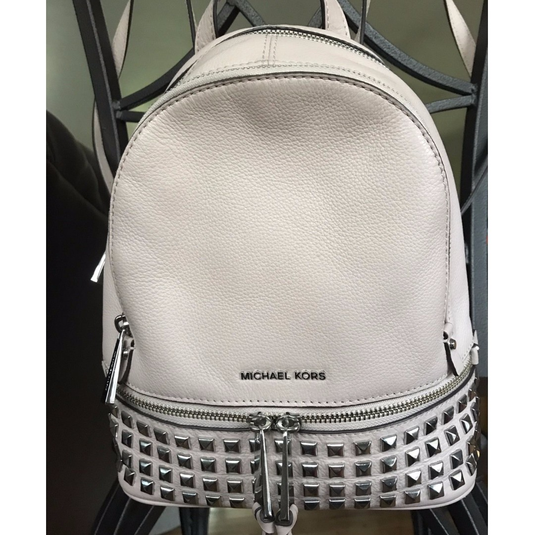 NEW WITHOUT TAGS - MK White Backpack