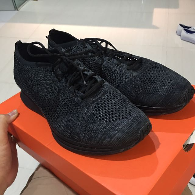the latest 1f989 fd09a Nike Flyknit Racer Midnight, Men s Fashion, Footwear on Carousell