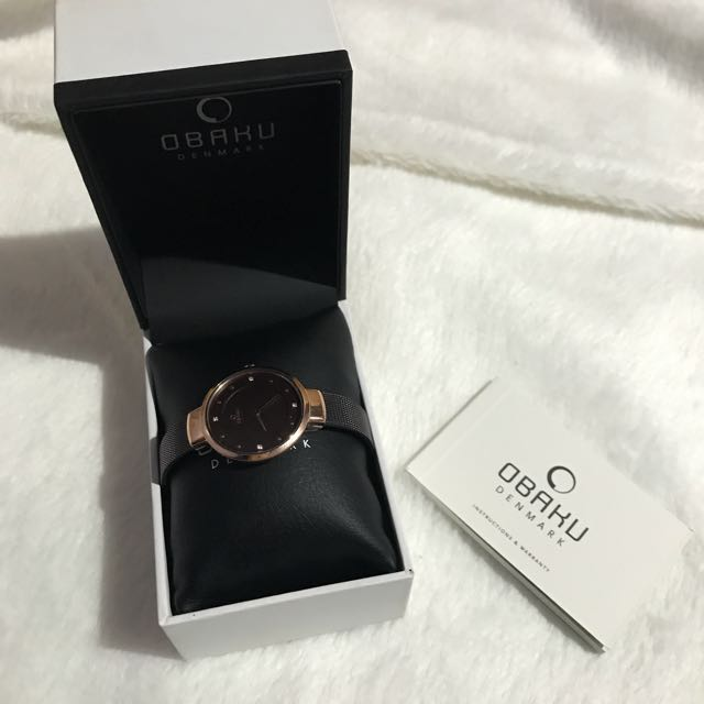 Obaku Rose Gold Watch