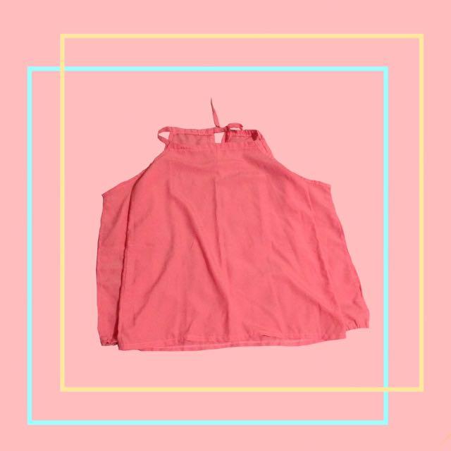 Peach Tie Blouse