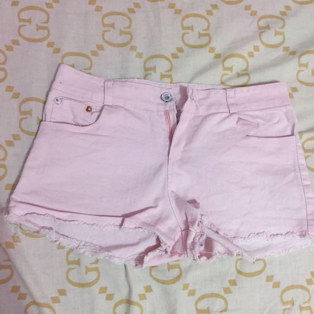 Pink Highwaist Shorts