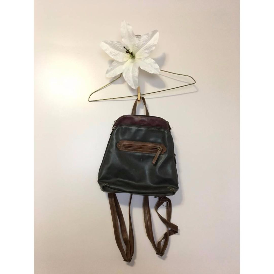 Pleather mini backpack